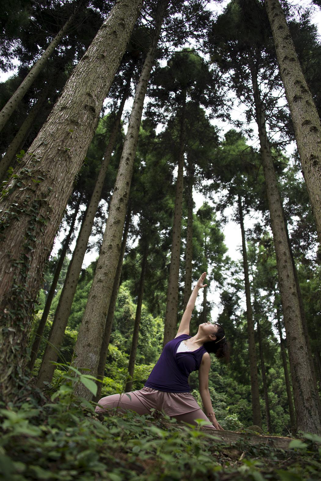 子連れOKママとOLさんを元気に北九州ヨガココカラ森林ヨガ