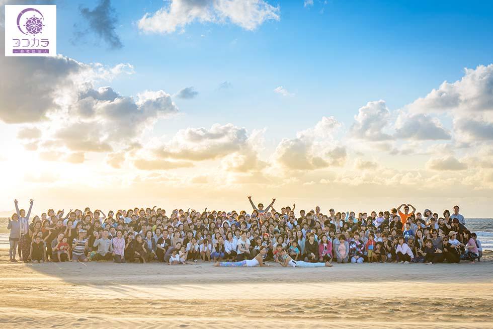 九州最大規模のサンセットビーチヨガ
